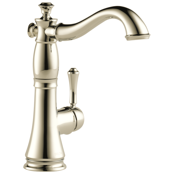 Delta Cassidy 1997LF-PN Single Handle Bar / Prep Faucet Polished Nickel-Kitchen-HomePlumbing