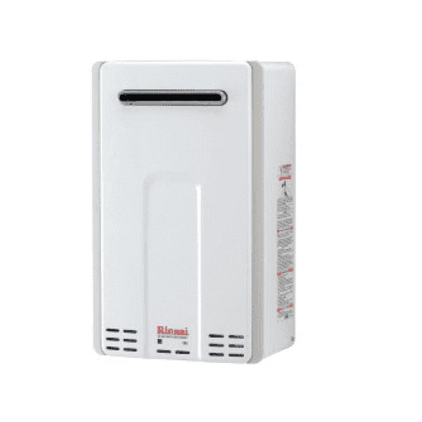 Rinnai White 15 Inch Wide 9.8 Gallon Per Minute Outdoor Natural Gas Tankless Water Heater V94eN