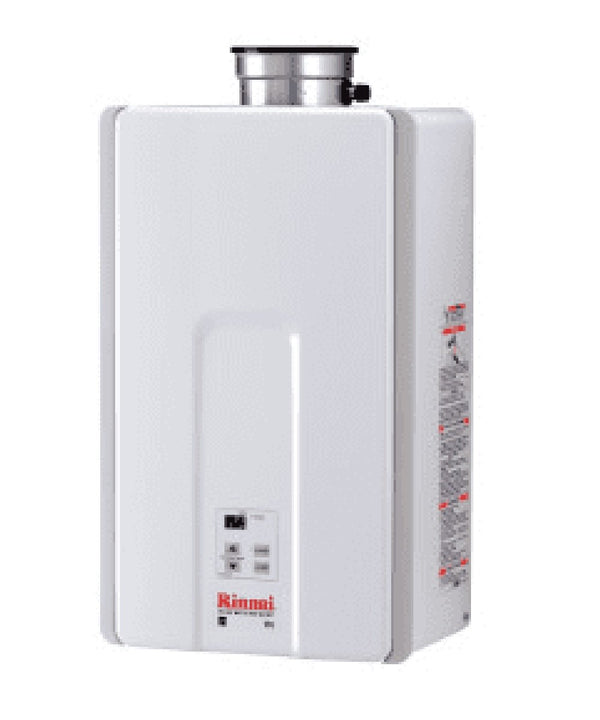 Rinnai White 13 Inch Wide 9.8 Gallon Per Minute Indoor Natural Gas Tankless Water Heater V94XiN-tankless water heater-HomePlumbing