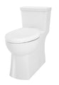 "Gerber Danze 21-187 Burr Ridge 1.28gpf ADA EL 1 pc CT Toilet 12"" Rough-In White, Brushed Nickel"