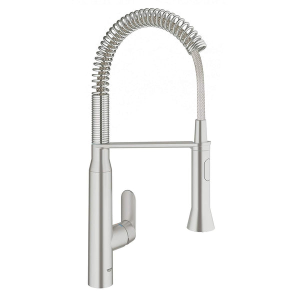 Grohe 31380DC0 K7 Semi-Pro Single-Handle Kitchen Faucet, Super Steel-Faucet-HomePlumbing