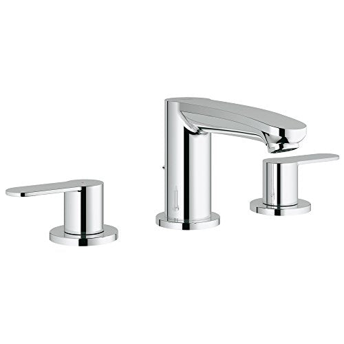Grohe 2020900A Eurostyle Cosmopolitan 8 in. Widespread 2-Handle 3-Hole Bathroom Faucet - 1.2 GPM