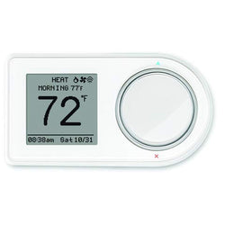 Lux Products GEO-WH Wi-Fi Thermostat, White, Controllable by App Remotely