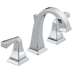 Delta Dryden Two Handle Widespread Bathroom Faucet Chrome