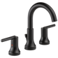 Delta Trinsic 3559-BLMPU-DST Two Handle Widespread Bathroom Faucet Matte Black
