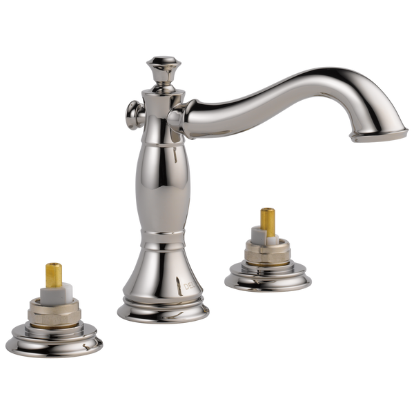 Delta Cassidy 3597LF-PNMPU-LHP Two Handle Widespread Bathroom Faucet - Less Handles Polished Nickel-Lavatory-HomePlumbing