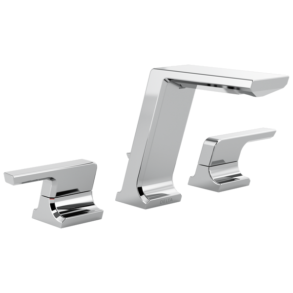 Delta Pivotal 3599LF-MPU Two Handle Widespread Bathroom Faucet Chrome-Lavatory-HomePlumbing