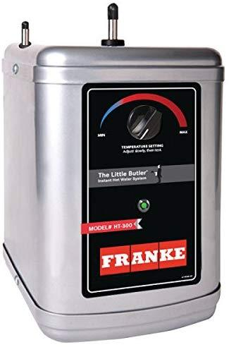 FRANKE HT-300 Little Butler Under Sink Instant Hot Water Filtration Heating Tank, 300-Watt (Latest Version), Compact, Silver and Black-tankless water heater-HomePlumbing