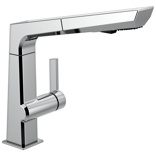 Delta Pivotal 4193-DST Single Handle Pull Out Kitchen Faucet Chrome-Kitchen-HomePlumbing
