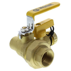 3/4 inch Threaded x 3/4 inch Sweat Pro-Pal Union Ball Valve with Hose Drain