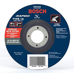 "Bosch TCW1S450 4-1/2"" Type 1A Thin Cutting Wheel for Stainless Steel/Metal"
