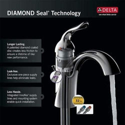 Delta Faucet 101LF-HDF, 8.88 x 2.23 x 8.69 inches, Chrome
