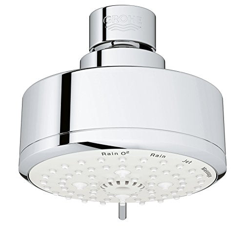 Grohe 26043001 Tempesta Cosmopolitan 100 4 Spray Functions Shower Head, Starlight Chrome