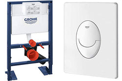GROHE Wall-Mount WC-Element Rapid SL BH 0,82, and Skate Air Actuation Plate, Alpine White