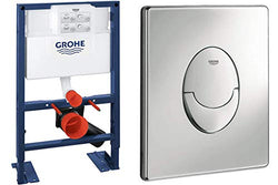 GROHE Wall-Mount WC-Element Rapid SL BH 0,82, and Skate Air Actuation Plate, Chrome