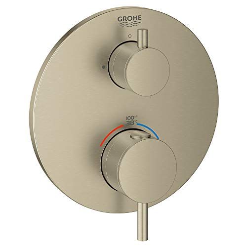 GROHE 24150EN3 Atrio Single Function 2-Handle Thermostatic Trim, Brushed Nickel InfinityFinish