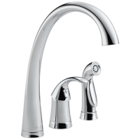 Delta Pilar 4380-DST Single Handle Kitchen Faucet with Spray Chrome-Kitchen-HomePlumbing