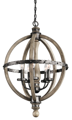 Kichler Five Light Chandelier 43324DAG