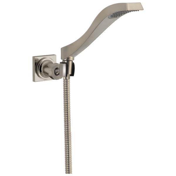 Delta Dryden 55051-SS Premium Single-Setting Adjustable Wall Mount Hand Shower Stainless-Showering Component-HomePlumbing