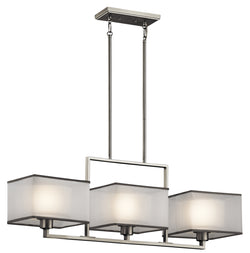Kichler Three Light Linear Chandelier 43437NI