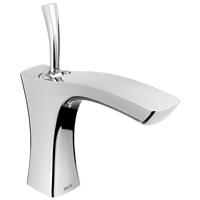 Delta Tesla 552LF-LPU Single Handle Bathroom Faucet - Less Pop Up Chrome-Lavatory-HomePlumbing