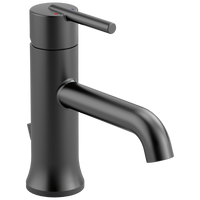 Delta Trinsic 559LF-BLMPU Single Handle Bathroom Faucet Matte Black-Lavatory-HomePlumbing