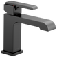Delta Ara 567LF-BLLPU Single Handle Bathroom Faucet Matte Black