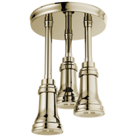 Delta Universal Showering Components 57190-PN H2Okinetic Pendant Raincan Shower Head Polished Nickel-Showering Component-HomePlumbing