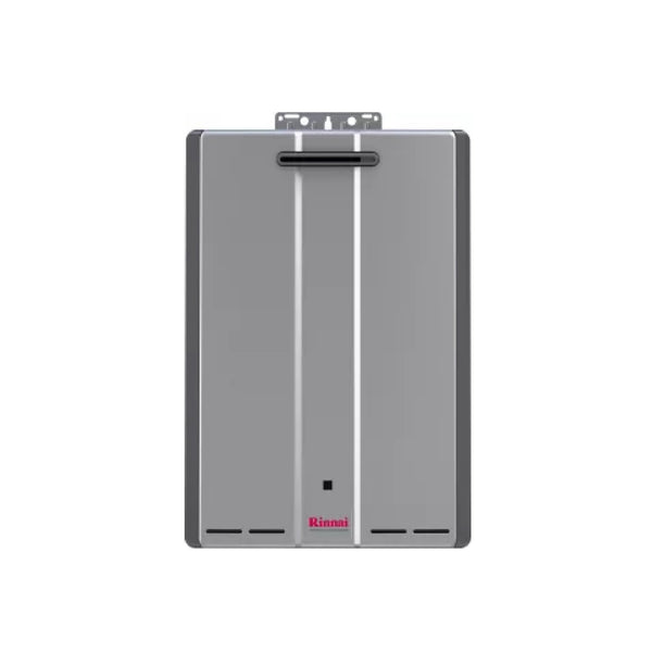 Rinnai Sensei 9 GPM 160000 BTU 120 Volt Residential Natural Gas Tankless Water Heater for Outdoor Installation with Recirculation Pump RUR160eN-tankless water heater-HomePlumbing