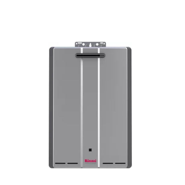 Rinnai Sensei 11 GPM 199000 BTU 120 Volt Residential Natural Gas Tankless Water Heater for Outdoor Installation with Recirculation Pump RUR199eN-tankless water heater-HomePlumbing