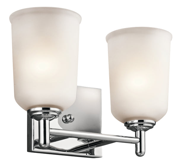 Kichler Two Light Bath 45573CH-Bathroom Fixtures-HomePlumbing