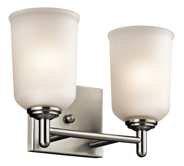 Kichler Two Light Bath 45573NI-Bathroom Fixtures-HomePlumbing