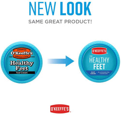 O'Keeffe's Healthy Feet Foot Cream, 3.2 ounce Jar, (Pack of 2), Blue