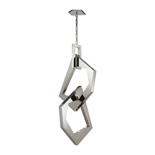 Elk Lighting - 31571/12 - 12 Light Chandelier - Links - Polished Nickel, Polished Stainless Steel