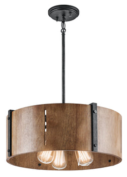 Kichler Three Light Pendant/Semi Flush Mount 42644DBK