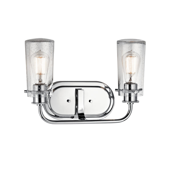 Kichler Two Light Bath 45458CH-Bathroom Fixtures-HomePlumbing
