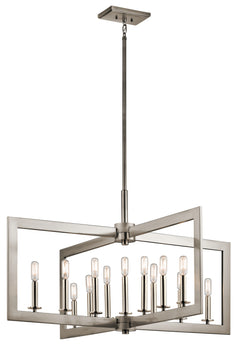 13 Light Linear Chandelier