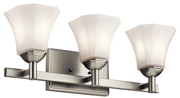 Kichler Three Light Bath 45733NI-Bathroom Fixtures-HomePlumbing