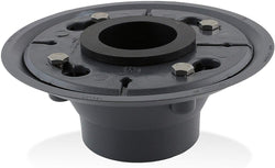 Aqva DBASE2-PVC+DSEAL-2 Luxe PVC Shower Drain Base with Rubber Gasket