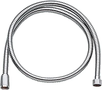 GROHE 28143000 Relexa Longlife Metallic Hose, Starlight Chrome-Hose-HomePlumbing