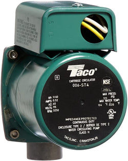 "Taco Circulator, Stainless Steel, 3/4""NPT,115V, 006-ST4"