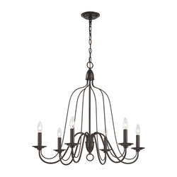 Elk Lighting 32162/6 Six Light Chandelier