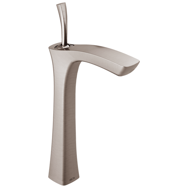 Delta Tesla 752LF-SS Single Handle Vessel Bathroom Faucet Stainless-Lavatory-HomePlumbing