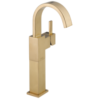 Delta Vero 753LF-CZ Single Handle Vessel Bathroom Faucet Champagne Bronze-Lavatory-HomePlumbing