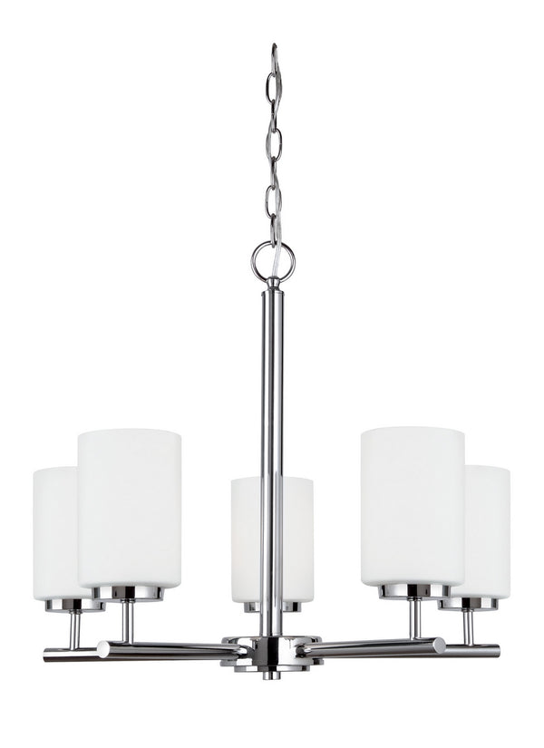 Generation Lighting 31161EN3-05 Five Light Chandelier-Mid. Chandeliers-HomePlumbing