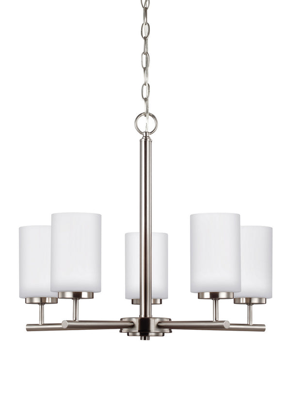 Generation Lighting 31161EN3-962 Five Light Chandelier-Mid. Chandeliers-HomePlumbing