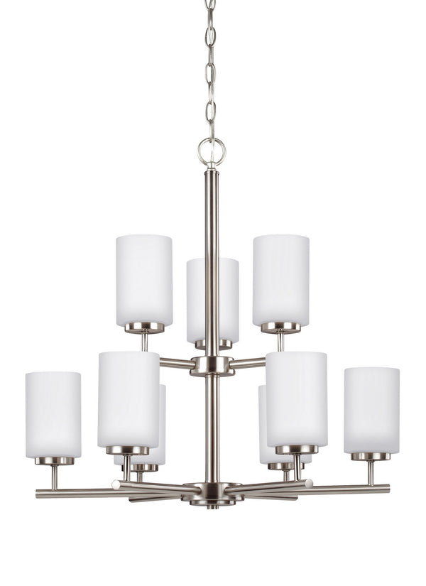 Generation Lighting 31162EN3-962 Nine Light Chandelier-Mid. Chandeliers-HomePlumbing