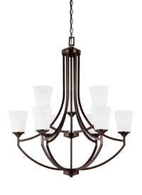 Generation Lighting 3124509EN3-710 Nine Light Chandelier-Mid. Chandeliers-HomePlumbing
