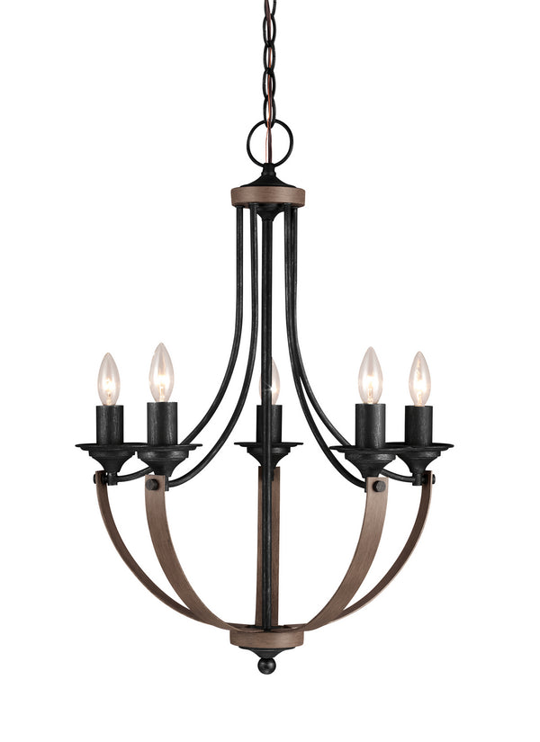 Generation Lighting 3280405EN-846 Five Light Chandelier-Mid. Chandeliers-HomePlumbing