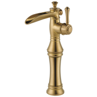 Delta Cassidy 798LF-CZ Single Handle Channel Vessel Bathroom Faucet Champagne Bronze-Lavatory-HomePlumbing
